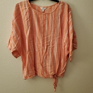 Time And Tru Coral Flowy Dolman Sleeve Top 16-18